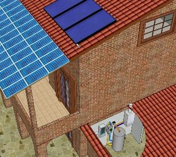 Elettricit ed acqua calda dal sole - Esposizione solare casa ...